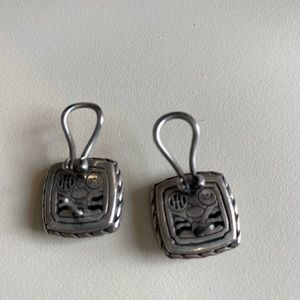 John Hardy Silver Classic Earrings